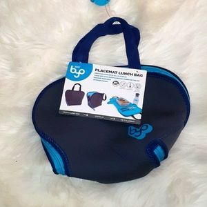 NWT Byo placemat lunchbag Blue & Teal